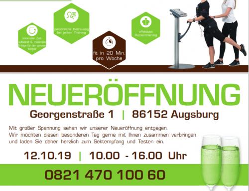 NEUERÖFFNUNG EMS-Fitness am 12.10.2019 in Augsburg